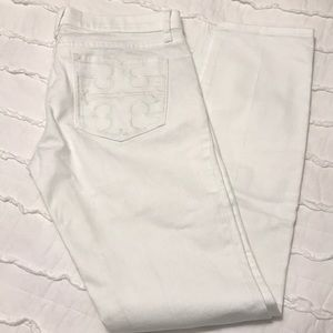 Tory Burch size 30 white super skinny jeans NWOT